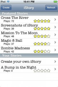 istory1 200x300 App Review: iStory by Taylor Steil