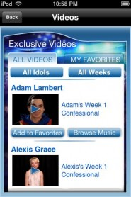 americanidol5 185x278 custom App Review: American Idol Season 8 Exclusive Videos