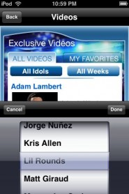 americanidol6 185x278 custom App Review: American Idol Season 8 Exclusive Videos