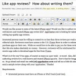 Like app reviews?  How about writing them?