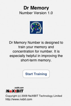 6981 Screenshot1 Dr Memory Number by NeXtBIT Technology Limited