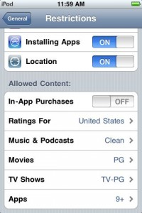 parentalcontrols6 200x300 A Tour of Parental Controls on iPhone OS 3.0