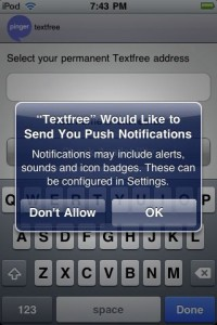 txtfreepush1 200x300 A Tour of Push Notifications Using Textfree Unlimited