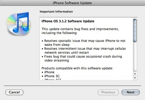 312 updateb 480x330 Apple Releases iPhone OS Update 3.1.2 for iPhone/iPod Touch