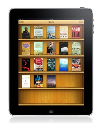 iPad running iBooks.