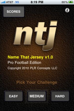 12200 a MAINSCREEN Name That Jersey Pro Football by PLR Concepts, LLC