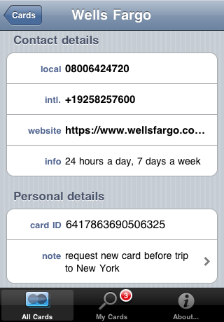 12542 Screenshot EN 03 My Card Info by iMKapps