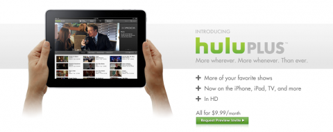 huluplusipad 480x191 Hulu Launches Premium Service Hulu Plus, iPhone and iPad Apps Too