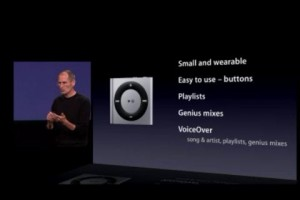 iPods4gannounce22 300x200 Apple Announces New iPod Shuffle and Nano