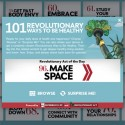"""101 Revolutionary Ways to Be Healthy"" from Experience Life magazine and RevolutionaryAct.com by Life Time Fitness"