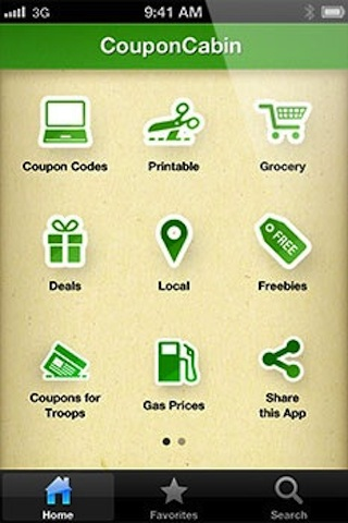 Mobile coupons app